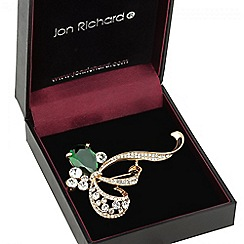 Jon Richard - Green crystal loop brooch