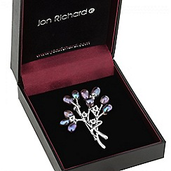 Jon Richard - Purple pearl sprig brooch