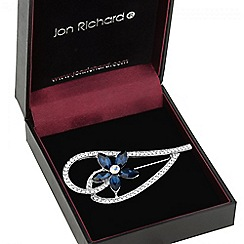 Jon Richard - Blue flower crystal loop brooch