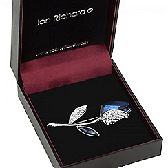Jon Richard - Blue crystal tulip brooch
