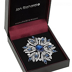 Jon Richard - Blue crystal floral burst brooch