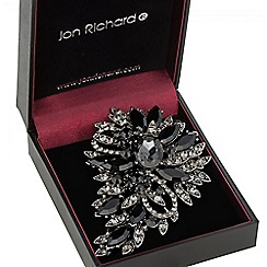 Jon Richard - Jet crystal statement brooch