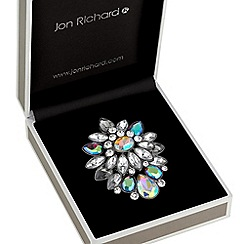 Jon Richard - Iridescent crystal cluster brooch