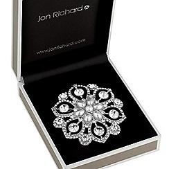 Jon Richard - Crystal and pearl statement brooch