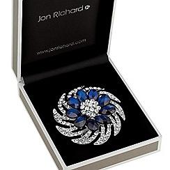 Jon Richard - Blue crystal floral brooch