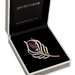 Jon Richard - Rose gold feather brooch