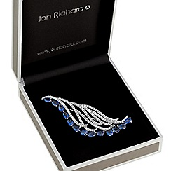 Jon Richard - Blue crystal harp brooch