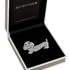 Jon Richard - Crystal sausage dog brooch