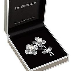 Jon Richard - Pearl flower brooch