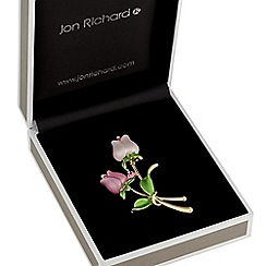 Jon Richard - Pink tulip brooch