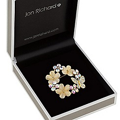 Jon Richard - Butterfly and flower wreath brooch