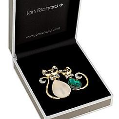 Jon Richard - Crystal cat brooch
