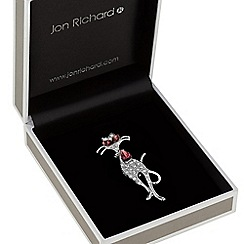 Jon Richard - Crystal collar cat brooch