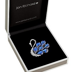 Jon Richard - Blue crystal swan brooch