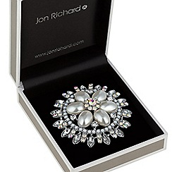 Jon Richard - Aurora borealis crystal and pearl brooch