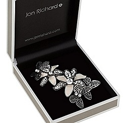 Jon Richard - Floral butterfly brooch