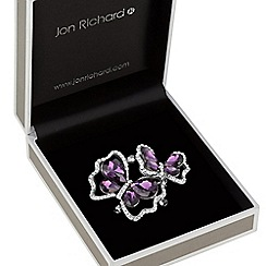 Jon Richard - Purple crystal butterfly brooch
