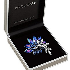 Jon Richard - Tonal blue cluster brooch