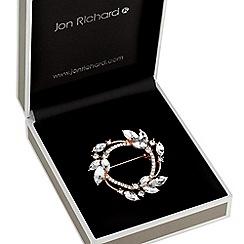 Jon Richard - Rose gold wreath brooch