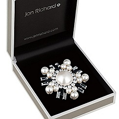 Jon Richard - Monochrome pearl brooch