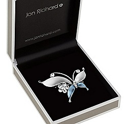 Jon Richard - Butterfly and flower brooch