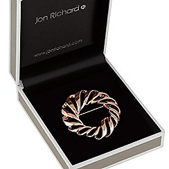 Jon Richard - Rose gold twist wreath brooch