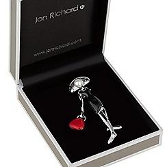 Jon Richard - Lady with handbag brooch