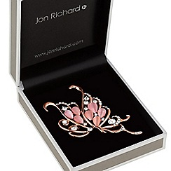Jon Richard - Pink crystal butterfly brooch