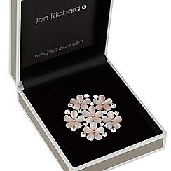 Jon Richard - Pink floral cluster brooch