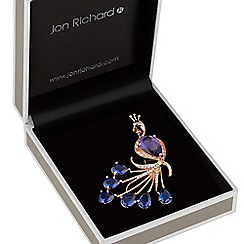 Jon Richard - Rose gold peacock brooch