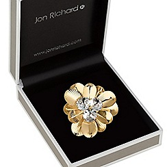 Jon Richard - Gold crystal flower brooch