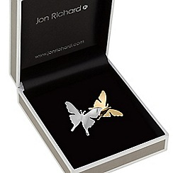 Jon Richard - Multi tone butterfly brooch