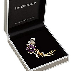Jon Richard - Crystal floral bouquet brooch