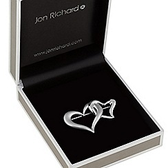Jon Richard - Silver linked heart brooch