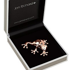 Jon Richard - Rose gold frog brooch