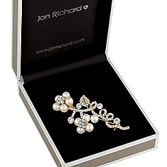 Jon Richard - Pearl floral twist brooch