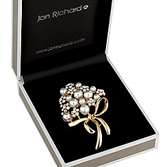 Jon Richard - Pearl and crystal bouquet brooch