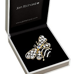 Jon Richard - Crystal bee brooch
