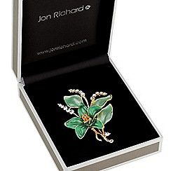 Jon Richard - Green flower brooch