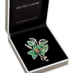Jon Richard - Green flower brooch