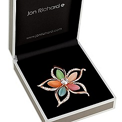 Jon Richard - Multi colour flower brooch