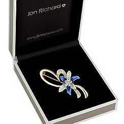 Jon Richard - Blue flower loop brooch