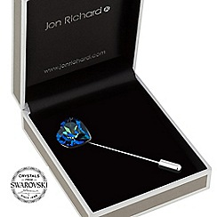 Jon Richard - Bermuda blue heart scarf pin MADE WITH SWAROVSKI CRYSTALS