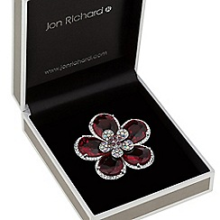 Jon Richard - Deep pink and aurora borealis crystal brooch