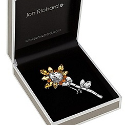 Jon Richard - Yellow crystal flower brooch