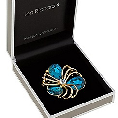 Jon Richard - Teal crystal pave loop brooch