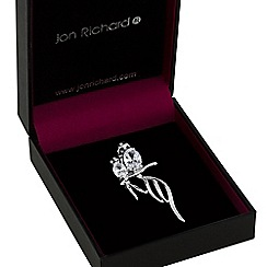 Jon Richard - Silver double bird brooch