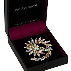 Jon Richard - Crystal swirl brooch