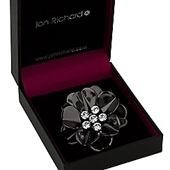 Jon Richard - Black flower brooch