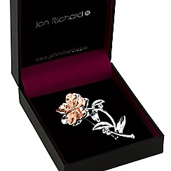 Jon Richard - Multi tone flower brooch